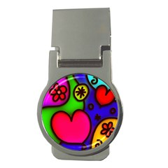 Colorful Modern Love 2 Money Clips (round)  by MoreColorsinLife