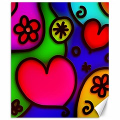 Colorful Modern Love 2 Canvas 20  X 24   by MoreColorsinLife