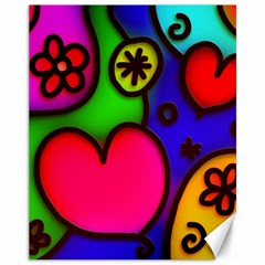 Colorful Modern Love 2 Canvas 11  x 14   by MoreColorsinLife