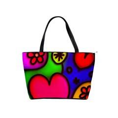 Colorful Modern Love 2 Shoulder Handbags by MoreColorsinLife