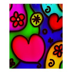 Colorful Modern Love 2 Shower Curtain 60  X 72  (medium)  by MoreColorsinLife