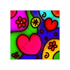 Colorful Modern Love 2 Acrylic Tangram Puzzle (4  X 4 ) by MoreColorsinLife