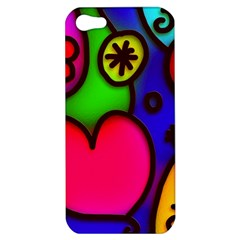 Colorful Modern Love 2 Apple Iphone 5 Hardshell Case by MoreColorsinLife