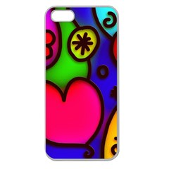 Colorful Modern Love 2 Apple Seamless Iphone 5 Case (clear) by MoreColorsinLife