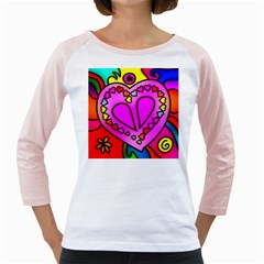 Colorful Modern Love Girly Raglans by MoreColorsinLife