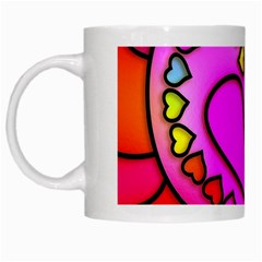 Colorful Modern Love White Mugs by MoreColorsinLife