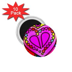 Colorful Modern Love 1 75  Magnets (10 Pack)  by MoreColorsinLife