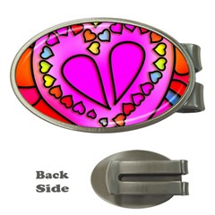 Colorful Modern Love Money Clips (oval)  by MoreColorsinLife