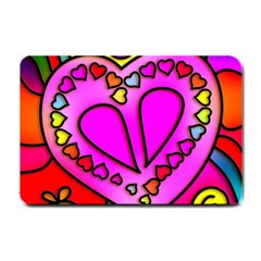 Colorful Modern Love Small Doormat  by MoreColorsinLife