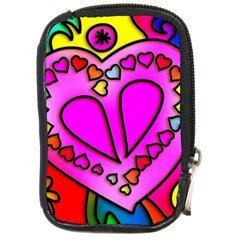 Colorful Modern Love Compact Camera Cases by MoreColorsinLife