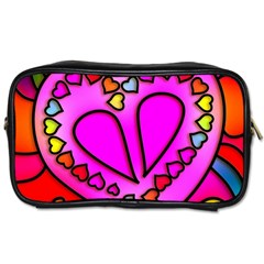 Colorful Modern Love Toiletries Bags