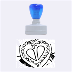 Colorful Modern Love Rubber Oval Stamps