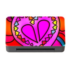 Colorful Modern Love Memory Card Reader With Cf by MoreColorsinLife