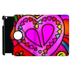 Colorful Modern Love Apple Ipad 3/4 Flip 360 Case by MoreColorsinLife