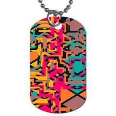 Colorful Shapes Dog Tag (two Sides) by LalyLauraFLM