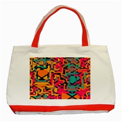 Colorful Shapes Classic Tote Bag (red) by LalyLauraFLM
