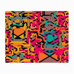 Colorful Shapes Small Glasses Cloth (2 Sides) by LalyLauraFLM