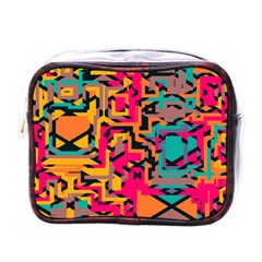 Colorful Shapes Mini Toiletries Bag (one Side) by LalyLauraFLM