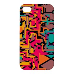 Colorful Shapes Apple Iphone 4/4s Premium Hardshell Case by LalyLauraFLM