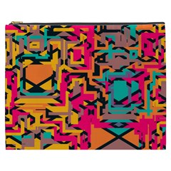 Colorful Shapes Cosmetic Bag (xxxl) by LalyLauraFLM