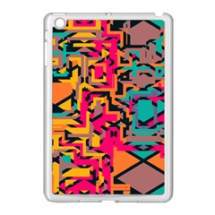 Colorful Shapes Apple Ipad Mini Case (white) by LalyLauraFLM