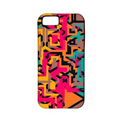 Colorful Shapes Apple Iphone 5 Classic Hardshell Case (pc+silicone) by LalyLauraFLM