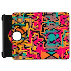 Colorful Shapes Kindle Fire Hd Flip 360 Case by LalyLauraFLM