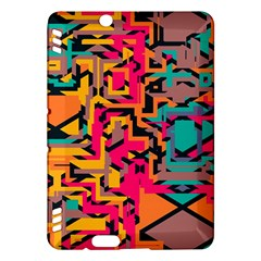 Colorful Shapes Kindle Fire Hdx Hardshell Case by LalyLauraFLM