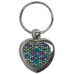 Floating Rectangles Key Chain (heart) by LalyLauraFLM