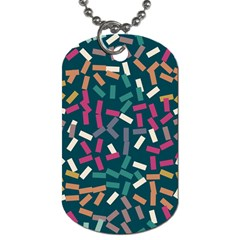 Floating Rectangles Dog Tag (two Sides) by LalyLauraFLM