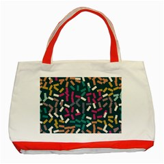 Floating Rectangles Classic Tote Bag (red) by LalyLauraFLM