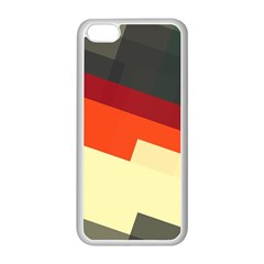 Miscellaneous Retro Shapes Apple Iphone 5c Seamless Case (white) by LalyLauraFLM