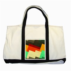 Miscellaneous Retro Shapes Two Tone Tote Bag by LalyLauraFLM