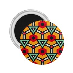 Triangles And Hexagons Pattern 2 25  Magnet by LalyLauraFLM