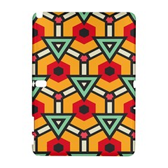 Triangles And Hexagons Pattern Samsung Galaxy Note 10 1 (p600) Hardshell Case by LalyLauraFLM