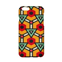 Triangles And Hexagons Pattern Apple Iphone 6 Hardshell Case by LalyLauraFLM