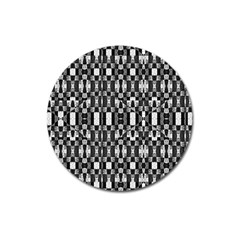 Black And White Geometric Tribal Pattern Magnet 3  (round) by dflcprints