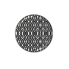 Black And White Geometric Tribal Pattern Hat Clip Ball Marker (4 Pack) by dflcprints