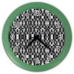 Black And White Geometric Tribal Pattern Color Wall Clocks by dflcprints