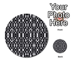 Black and White Geometric Tribal Pattern Multi-purpose Cards (Round)  by dflcprints