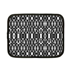 Black And White Geometric Tribal Pattern Netbook Case (small)  by dflcprints