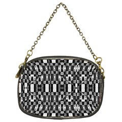 Black And White Geometric Tribal Pattern Chain Purses (two Sides)  by dflcprints