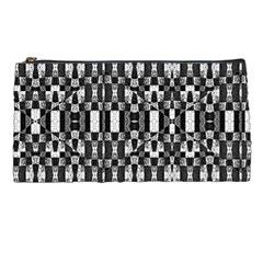 Black And White Geometric Tribal Pattern Pencil Cases by dflcprints