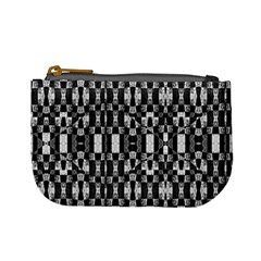 Black And White Geometric Tribal Pattern Mini Coin Purses by dflcprints