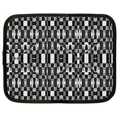 Black And White Geometric Tribal Pattern Netbook Case (xxl)  by dflcprints