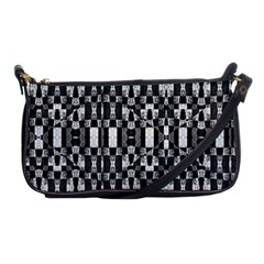 Black And White Geometric Tribal Pattern Shoulder Clutch Bags by dflcprints