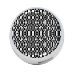 Black And White Geometric Tribal Pattern 4 Port Usb Hub (one Side) by dflcprints