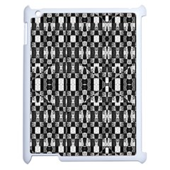 Black And White Geometric Tribal Pattern Apple Ipad 2 Case (white) by dflcprints
