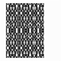 Black And White Geometric Tribal Pattern Small Garden Flag (two Sides) by dflcprints