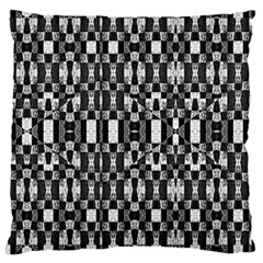 Black And White Geometric Tribal Pattern Large Cushion Cases (one Side)  by dflcprints